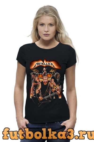 Футболка Metallica - fan-art женская