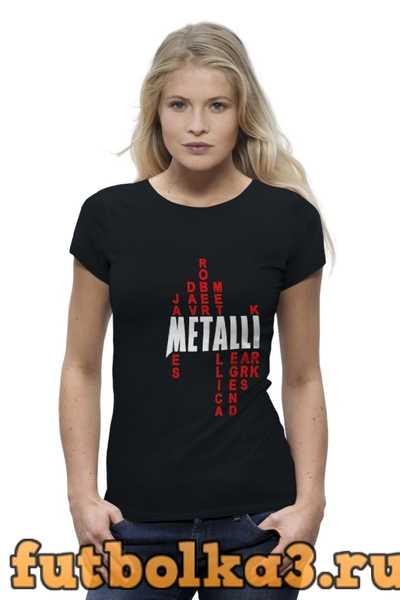 Футболка Metallica History женская