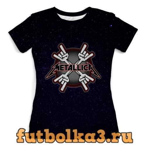 Футболка Metallica женская