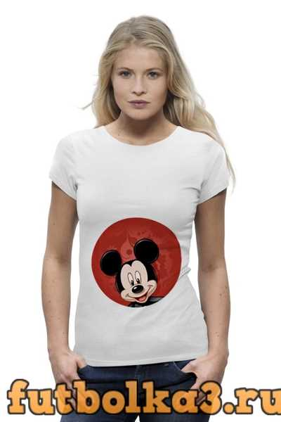 Футболка Микки Маус мультяшный герой женская