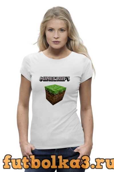 Футболка Minecraft - Куб женская