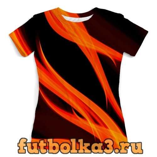 Футболка огонь женская