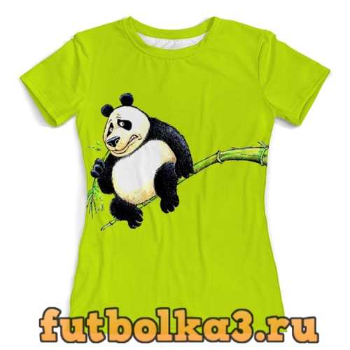 Футболка Панда на ветке женская