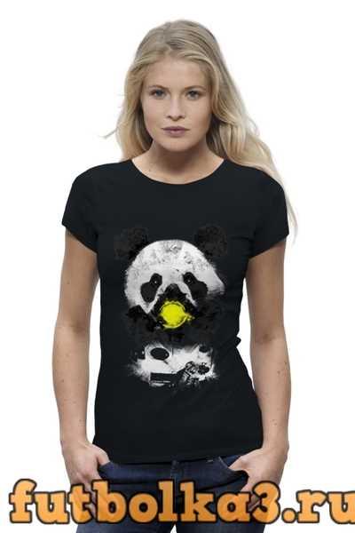 Футболка Панда в маске женская