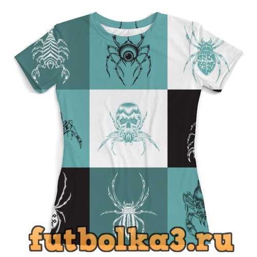 Футболка пауки женская