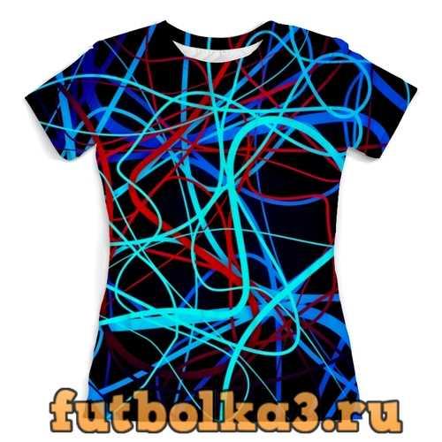 Футболка Переплетение линий женская