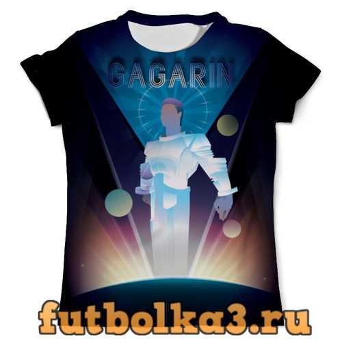 Футболка Первый полет в космос космонавта Юрия Гагарина мужская