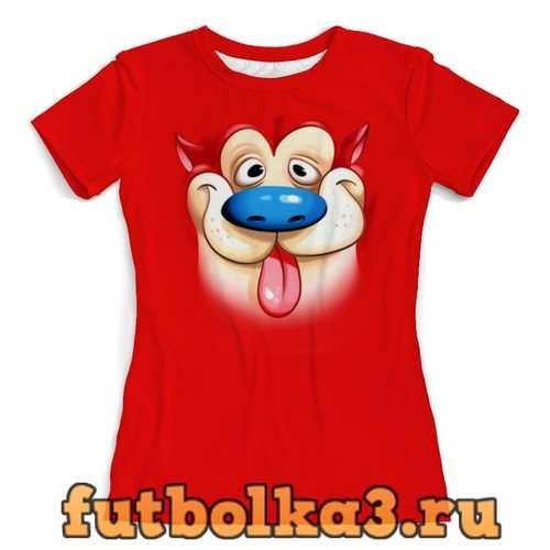 Футболка Пес Рен женская