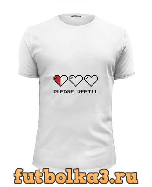 Футболка Пиксельные Сердца (8-бит) мужская