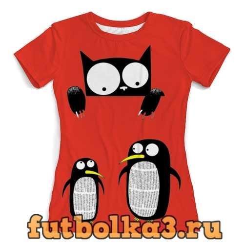 Футболка Пингвины женская