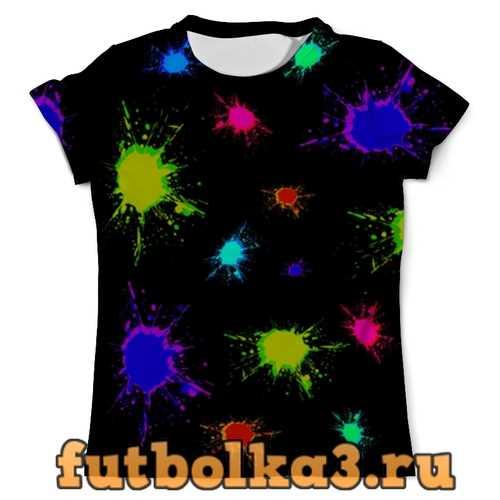 Футболка Разноцветные кляксы мужская