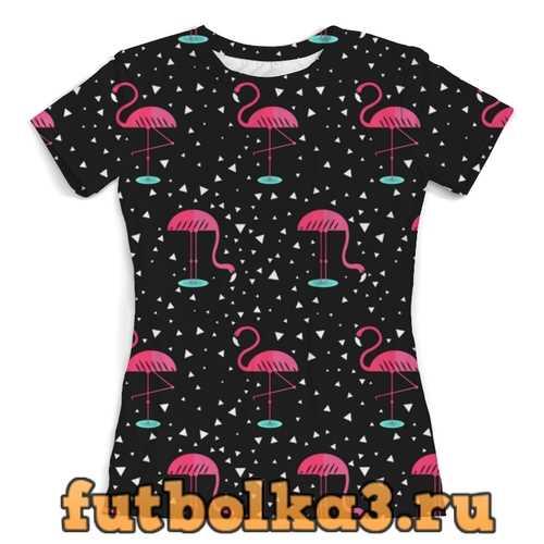 Футболка Розовый фламинго женская