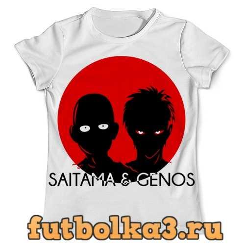 Футболка Saitama & Genos мужская