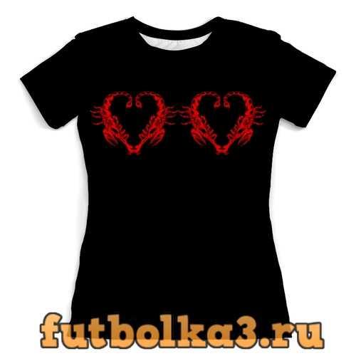 Футболка Сердца скорпионов женская