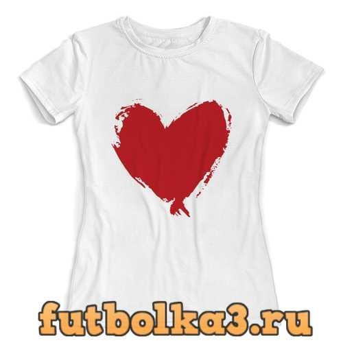 Футболка сердце женская