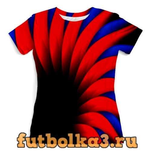 Футболка Сине-красный женская