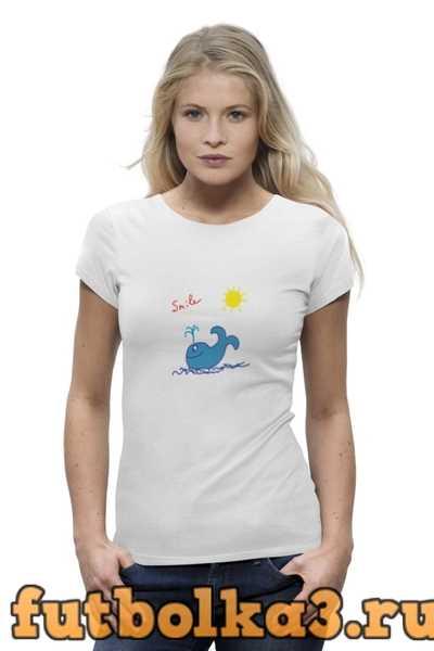 Футболка синий кит женская