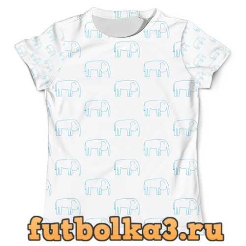 Футболка Синий слон мужская