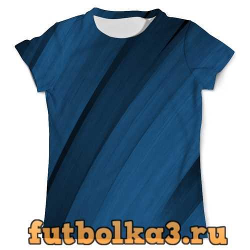 Футболка Синяя абстракция мужская