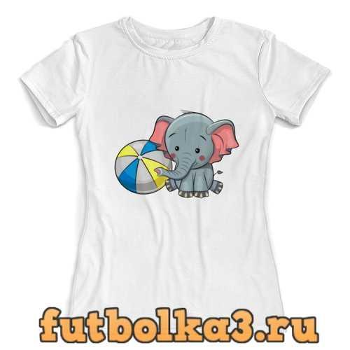 Футболка слоник женская