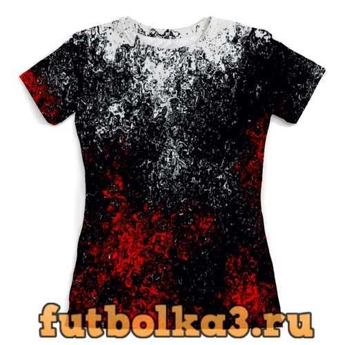 Футболка Смесь красок женская