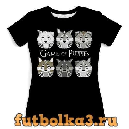 Футболка Собачки женская