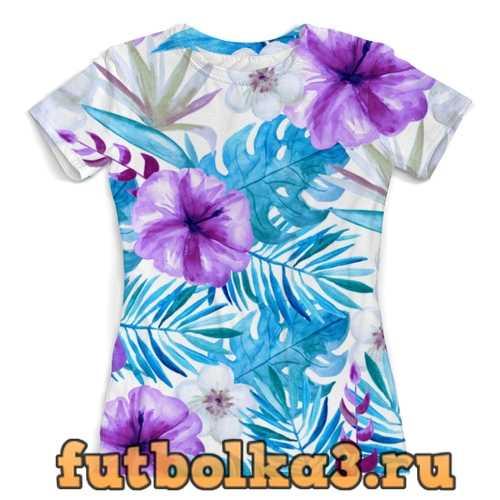 Футболка Тропические цветы женская