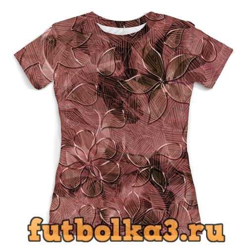 Футболка Цветки женская
