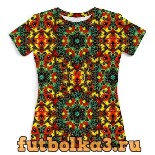 Футболка Цветная мозаика женская