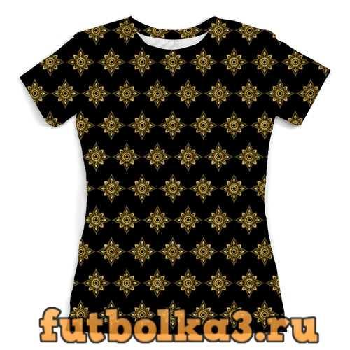 Футболка Цветочное золото женская