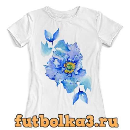 Футболка цветок женская