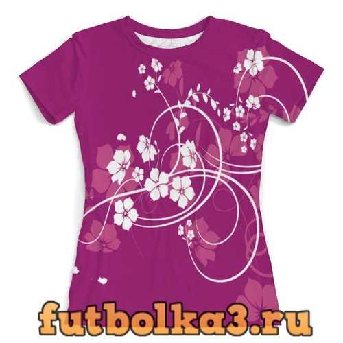 Футболка цветы женская