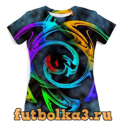 Футболка Узор красок женская