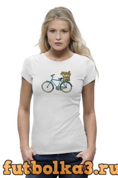 Футболка Велосипед женская