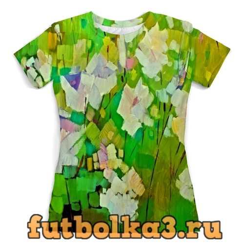 Футболка Весна красками женская