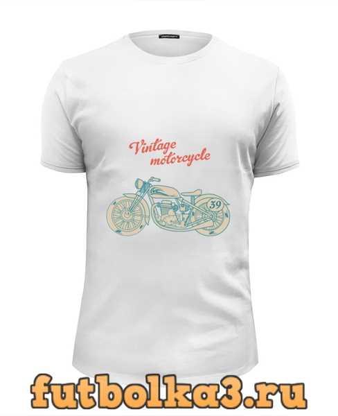 Футболка Винтажный мотоцикл мужская