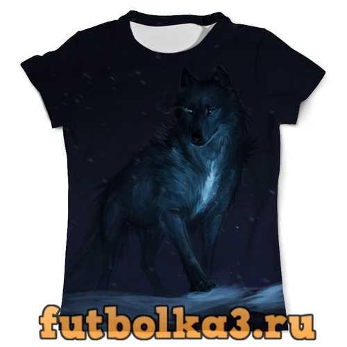 Футболка Волк космос мужская