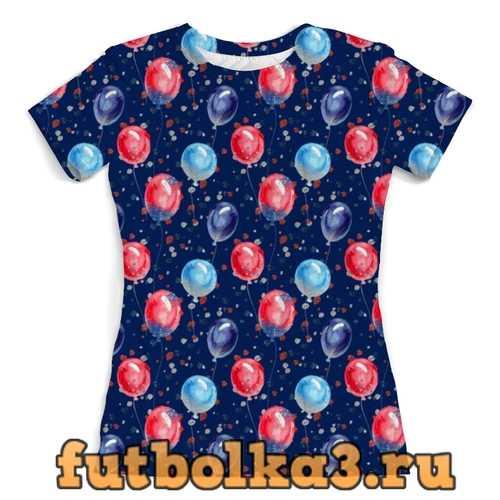 Футболка Воздушные шарики женская
