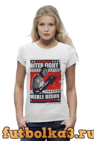Футболка Walking Dead Merle Dixon Biter Fight женская