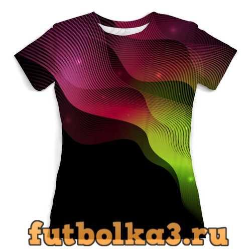 Футболка Яркие линии женская