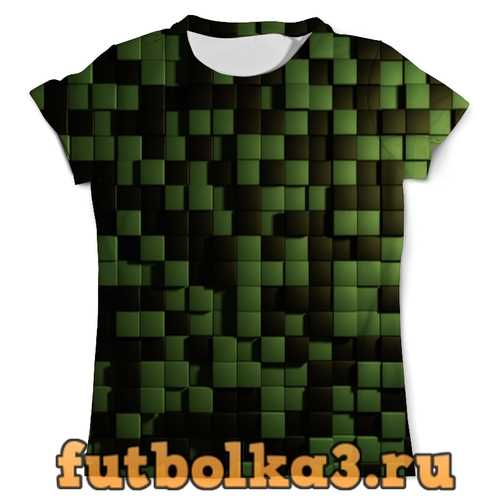 Футболка Зеленые кубики мужская