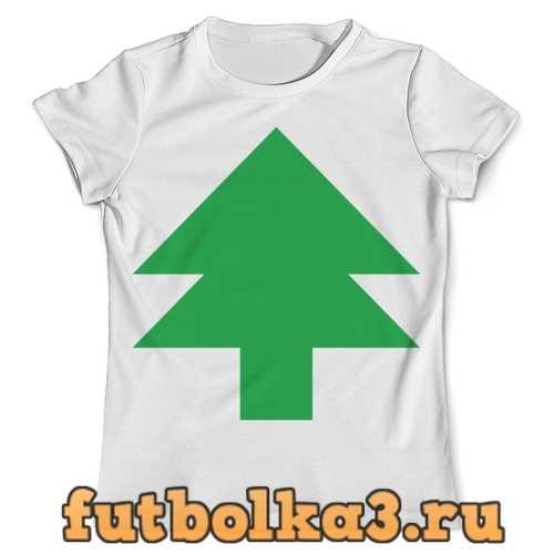 Футболка Зелёная ёлка танграм мужская