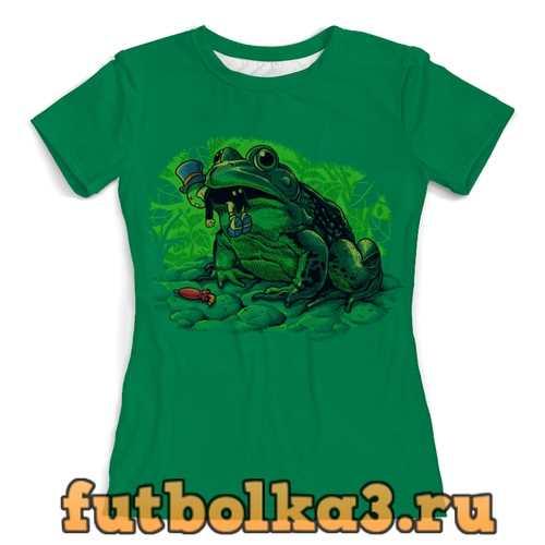 Футболка Жаба с кузнечиком женская