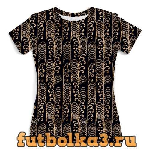 Футболка Золотой узор женская