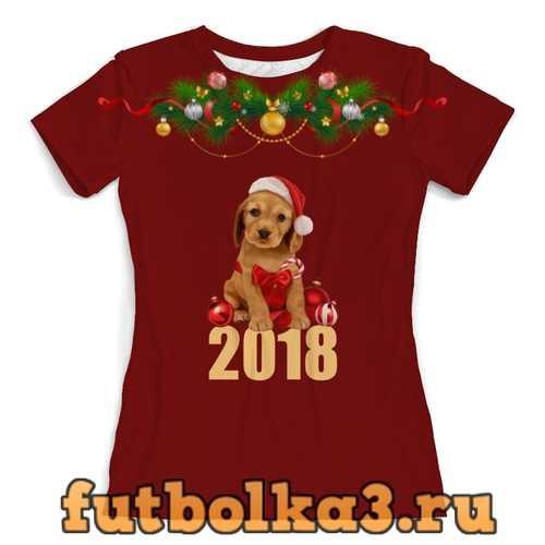 Футболка 2018. Новый Год женская
