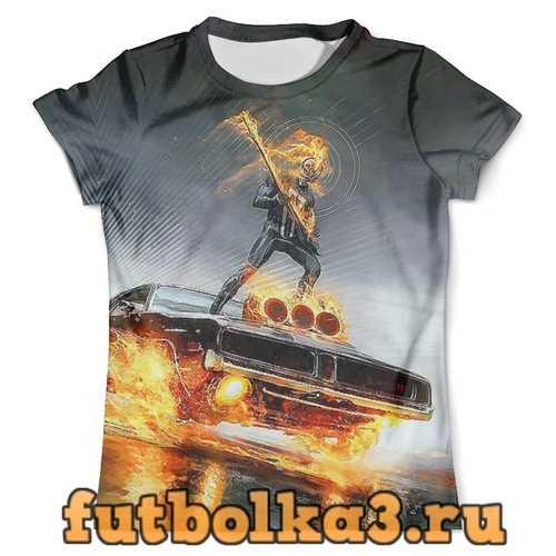 Футболка A Ghost Rider on the streets мужская