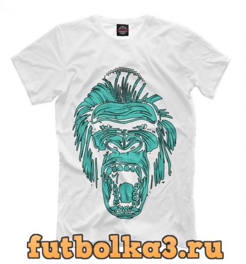 Футболка Abstract agressive monkey мужская
