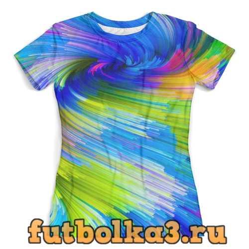 Футболка Abstract Rainbow женская