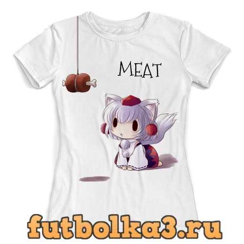 Футболка Anime Meat женская