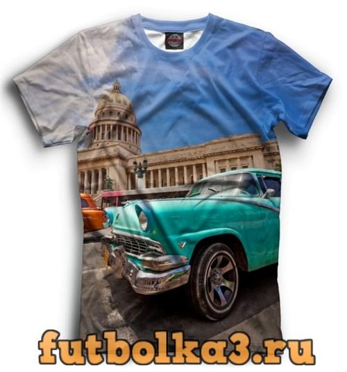 Футболка Автомобили на Кубе мужская